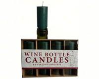 Set of 4 Bottle Candles Green-VCCANDLEGREEN