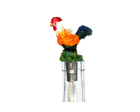 Rooster Pewter Winelight - Painted-VCWLPRSP