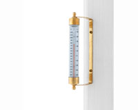 Vermont Indoor Outdoor Thermometer Living Finish Brass-CCBT1LFB