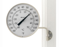 Dial Thermometer Satin Nickel Finish-CCBT6SN