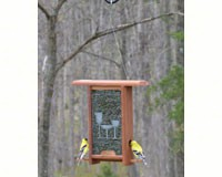 Wine Glass Etched Glass bird feeder-WE203