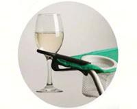 Black Wine Glass Holder Hook-WHBK0888
