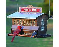 Rustic Farmhouse Absolute Feed & Seed Feeder-WL24637