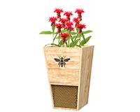 Heavy Duty Cedar Mason Bee House Planter-WL28553
