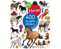Eyelike Horses 400 Reusable Sticker Book-WMP0761187240