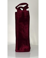 Panne Velvet Wine Bottle Tote - Burgundy-13108
