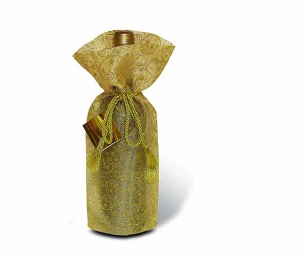 Sheer Delight Gold Wine Bottle Gift Bag