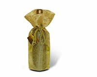 Sheer Wine Bottle Bag - Gold-14030