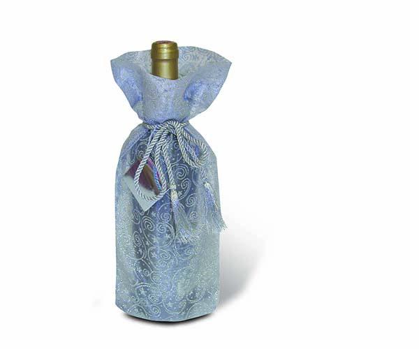 Sheer Delight Silver Wine Bottle Gift Bag
