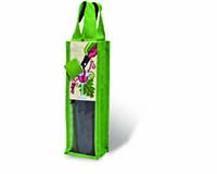 Natural Jute Wine Bottle Tote - Pout It On-15536