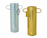 Silver and Gold Foil Wine Tubes Set of 2 16544
