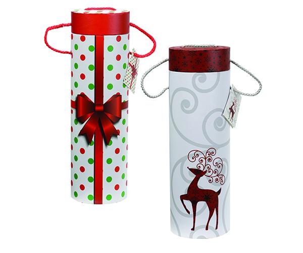 Holiday Wine Tubes Set of 2