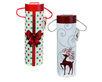 Holiday Wine Tubes Set of 2 16806