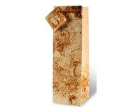 Printed Paper Wine Bottle Bag  - Marble-17074