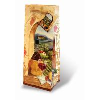 Printed Paper Wine Bottle Bag  - Tuscan Vineyard-17081