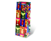Printed Paper Wine Bottle Bag  - Cocktail Hour-17089