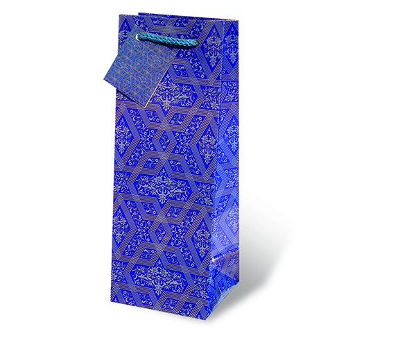 Blue Mystique Wine Bottle Gift Bag