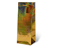 Foil Paper Wine Bottle Bag  - Gold-17119