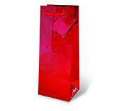Foil Paper Wine Bottle Bag  - Red-17121