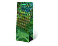 Foil Paper Wine Bottle Bag  - Green-17123