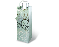 Silver Swirls Wine Bottle Gift Bag-17203
