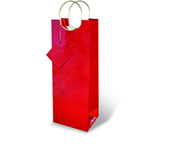 Red Foil Wine Bottle Gift Bag 17204