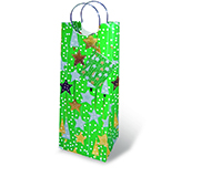 Holiday Contempo Wine Bottle Gift Bag-17205