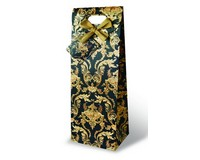 Printed Paper Wine Bottle Bag  - Versailles-17206