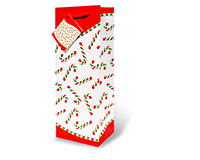 Candy Canes Wine Bottle Gift Bag 17209