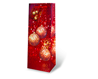 Printed Paper Wine Bottle Bag  - Festive Holidays-17289