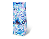 Printed Paper Wine Bottle Bag  - Snow Crystals-17290