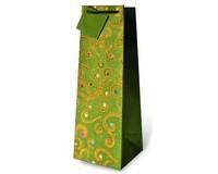 Glitter and Gold Swirl Wine Bottle Gift Bag 17318