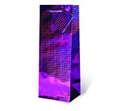 Purple Foil Wine Bottle Gift Bag-17336