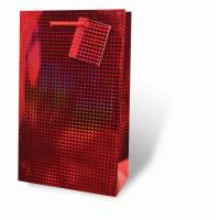 Red Foil Two Bottle Wine Gift Bag-17337