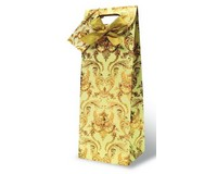Versailles - Beige Wine Bottle Gift Bag 17338
