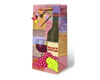 Printed Paper Wine Bottle Bag  - Aged to Perfection-17345