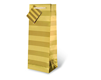 Gold Foil Stripe Wine Bottle Gift Bag 17346