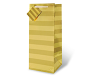 Gold Foil Stripe Wine Bottle Gift Bag 17352