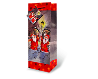 Santa's Wine Cellar Wine Bottle Gift Bag-17356