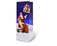 Santa's List Wine Bottle Gift Bag-17357