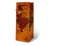 Red Grapes Wine Bottle Gift Bag-17362