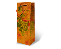 Green Grapes Wine Bottle Gift Bag-17363