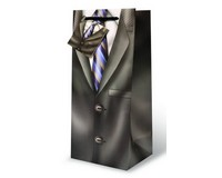 Suit & Tie Wine Bottle Gift Bag 17371
