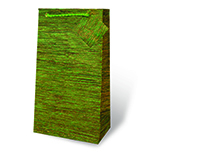 Green Textured Two Bottle Wine Gift Bag-17437