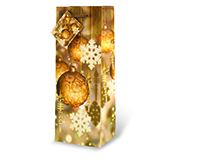 Festive Holidays - GoldWine Bottle Gift Bag-17459