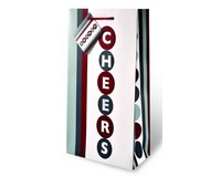 Cheers Two Bottle Wine Gift Bag-17462