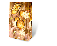 Festive Holidays Gold Two Bottle Wine Gift Bag-17463