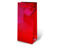 Red Foil Wine Bottle Gift Bag-17467