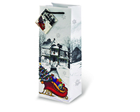 Sleigh Wine Bottle Gift Bag-17497