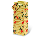 Christmas Bows Wine Bottle Gift Bag-17498